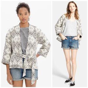 Madewell Kimono Wrap Jacket in Arrowhead Sz Small